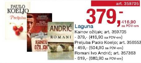 Knjiga Romani Ivo Andrić Laguna