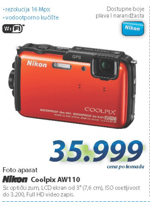 Fotoaparat Coolpix AW110