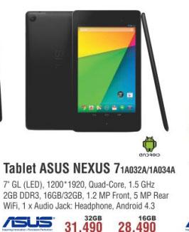 """Tablet 7"""" NEXUS 1A034"""