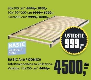 Podnica Basic A40 80x200cm