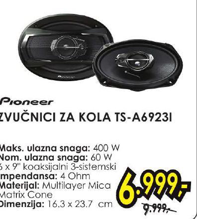 Zvučnici za kola Ts-A6923I