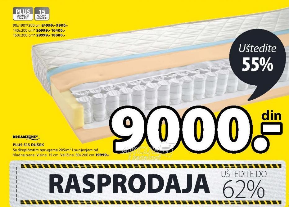 Dušek Plus S15 80x200cm