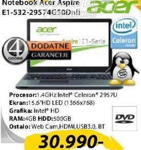 Laptop E1-532-29574G50Dnii