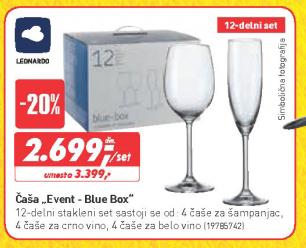 Čaša Event - Blue Box