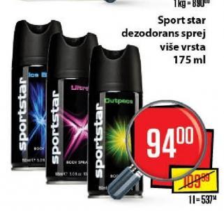 Dezodorans Sport Star