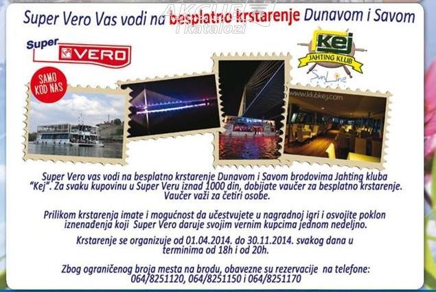 Besplatno krstarenje Dunavom i Savom