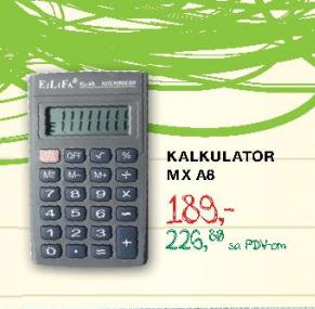 Kalkulator MX A8