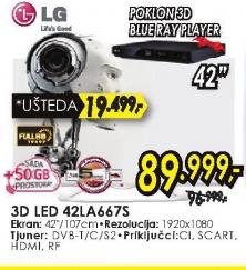 Televizor 3D LED 42LA667S