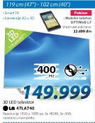 3D LED LG 47la740+Poklon mobilni telefon Opitimus L7