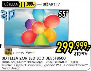 "Televizor LED 55"" Ue55f8500"