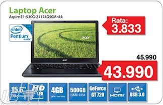 Laptop Aspire E1-530G-21174G50Mnkk