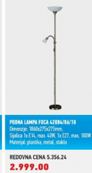 Podna lampa Foca