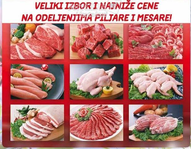 Veliki izbor i niske cene na odeljenju mesare