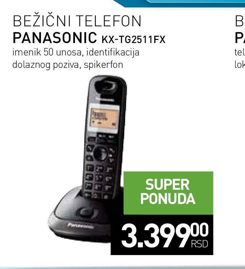 Bežični telefon KX TG 2511FX