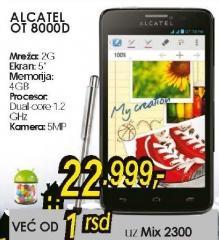 Mobilni telefon One Touch Scribe Easy OT 8000D