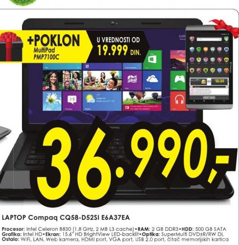 Laptop Compaq CQ58-D52SI E6A37EA
