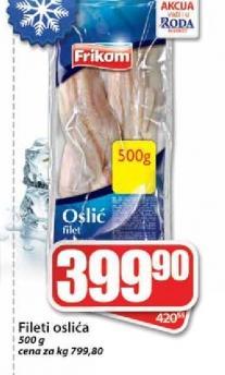 Smrznuta riba oslić filet