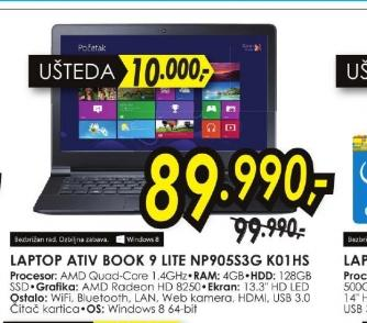 Laptop ATIV Book 9 Lite NP905S3G-K01HS