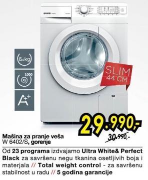 Mašina Za Pranje Veša,W 6402/S