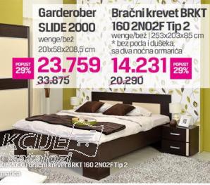 Bračni krevet BRKT 160 2N02F TIP2