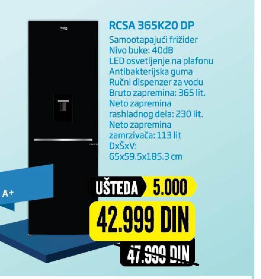 Frižider RCSA365K20 DP