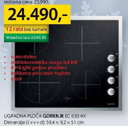 Ugradna ploča Ec630ax