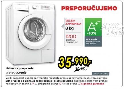 Mašina za pranje veša W8424