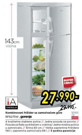 Kombinovani frižider Rf627sw