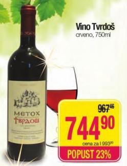Crveno vino Tvrdoš