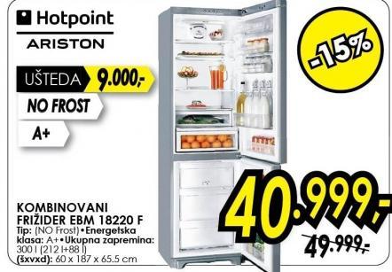 Kombinovani frižider Ebm 18220 F