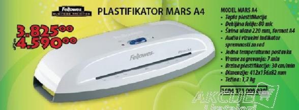 Plastifikator Mars A4