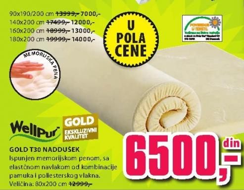 Naddušek Gold T30 80x200