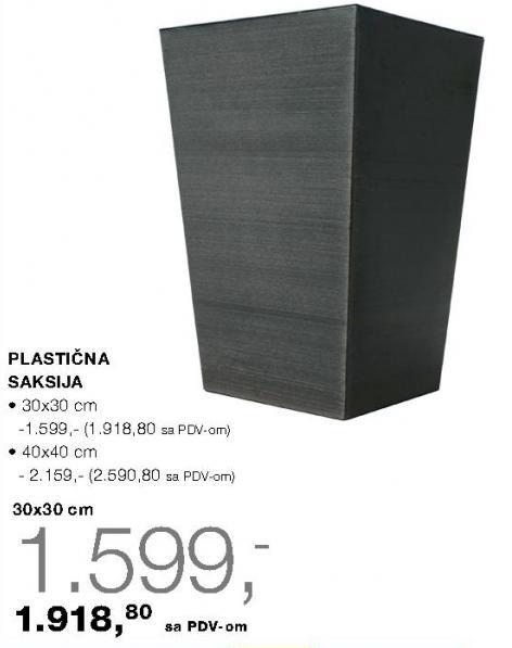 Plastična saksija 40x40