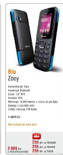 Mobilni telefon Blu, ZOEY