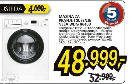 Hotpoint Mašina Za Pranje I Sušenje Veša Wdg 8640B Eu