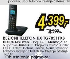Fiksni telefon KX-TG7851FXB