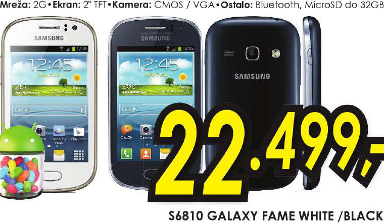 Mobilni Telefon S6180 GALAXY FAME WHITE/BLACK