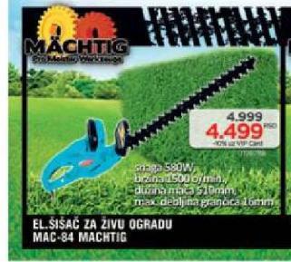 Električni šišač za živu ogradu Mac-84