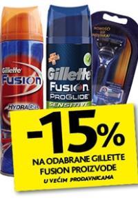 Na odabrane Gillette Fusion proizvode