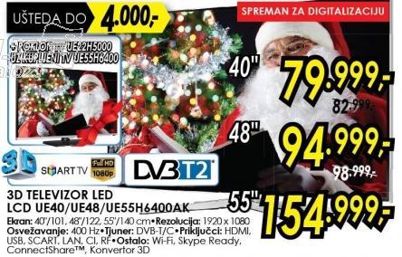 """Televizor LED 55"""" 3D Ue55h6400ak"""