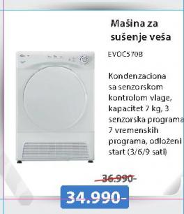 Mašina za sušenje veša EVOC570B