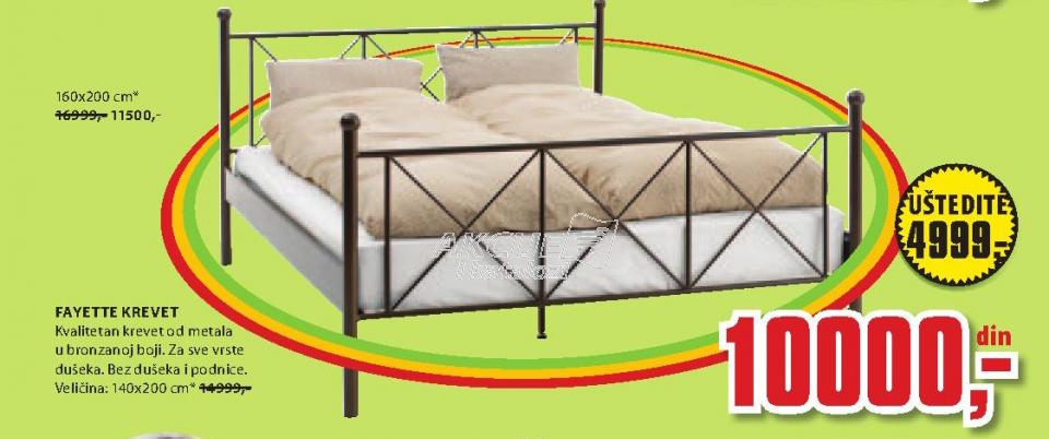 Krevet Fayette, 160x200 cm