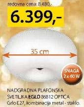 Nadgradna plafonska svetiljka 86812 Optica