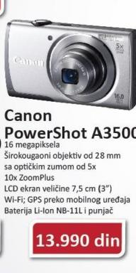 Digitalni Fotoaparat Powershot A3500