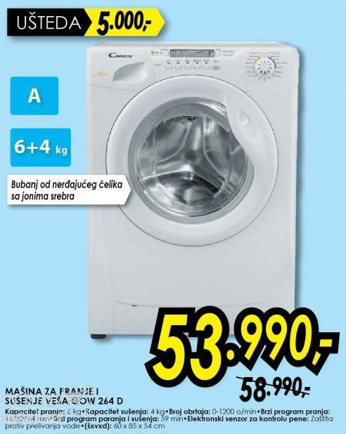 Mašina za pranje i sušenj veša Gow 264 d