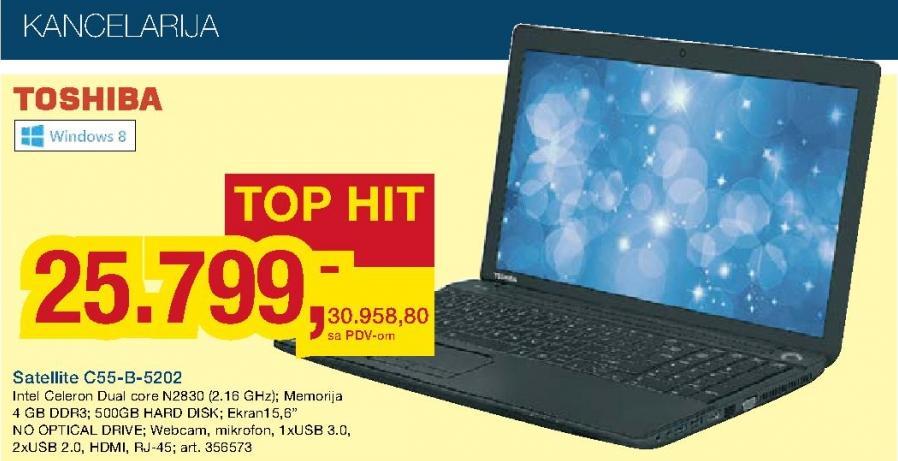 Laptop Satellite C55-B-5202