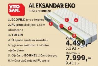 Dušek Aleksandar Eko 90x200cm