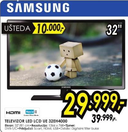 "Televizor LED 32"" Ue 32eh4000"