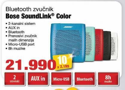Zvučnik 2.0 Soundlink Color Bose