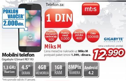 Mobilni telefon Gsmart Rey R3